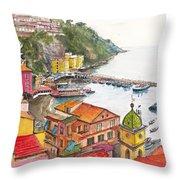 Sorrento Harbour Throw Pillow