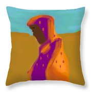 Sorrowful Mother Of The Past And Present Throw Pillow