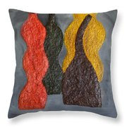 Sorted Vases Throw Pillow
