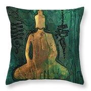 Sotapanna 1 Buddha Painting With Unalome Symbols Throw Pillow