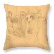 Soudais Deposition (d?position Soudais) Throw Pillow
