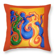 Soul Figures 3 Throw Pillow