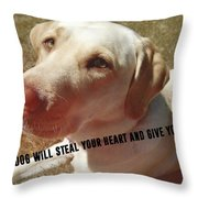 Soul Mate Quote Throw Pillow