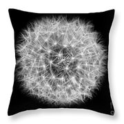 Soul Of A Dandelion Black And White Throw Pillow