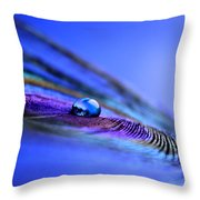 Soul Of Blue Throw Pillow