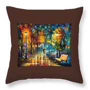 Soul Of The Rain Throw Pillow