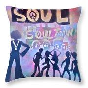 Soul Train 1 Throw Pillow
