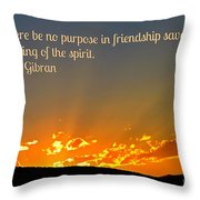 Soulful Friends Throw Pillow