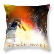 Souls Meet Throw Pillow
