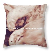 Sound Asleep Quote Throw Pillow