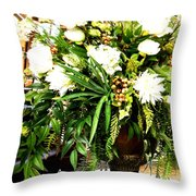 Sound Of Flowers Throw Pillow
