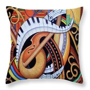 Sound Of Soul Strings Throw Pillow