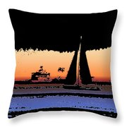 Sound Sailin 2 Throw Pillow