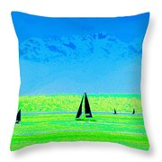 Sound Sailin Throw Pillow