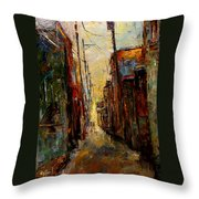 Sounds In The Alley Throw Pillow