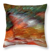 Sounds Of Thunder Abstract Throw Pillow