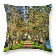 Sounds Of Victory The Bell Tower Furman University Greenville South Carolina Art Throw Pillow