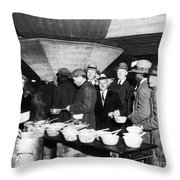 Soup Kitchen, 1931 Throw Pillow