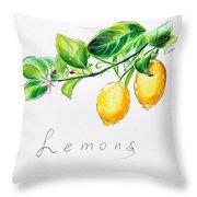 Sour Lemons Throw Pillow
