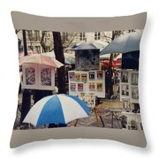Sous La Parapluie Throw Pillow