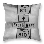 South 811 Throw Pillow