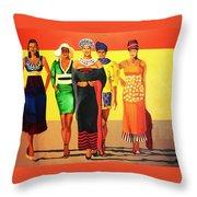 South African Beauties Throw Pillow