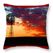 South African Sunrise Throw Pillow