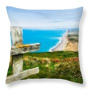 South Beach At Point Reyes Throw Pillow