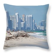 South Beach Baby Throw Pillow