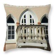 South Beach Balcony Throw Pillow