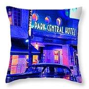 South Beach Hotel Throw Pillow