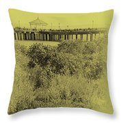 South Beach Pavilion Throw Pillow