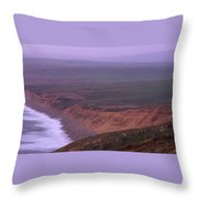 South Beach - Point Reyes National Seashore Throw Pillow