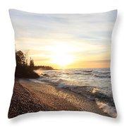 South Beach Sunset Throw Pillow