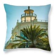 South Beach Vibes Throw Pillow