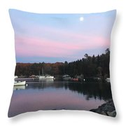 South Bristol Sunset Throw Pillow