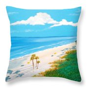 South Carolina Beach Throw Pillow