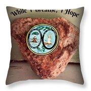 South Carolina Rocks Throw Pillow
