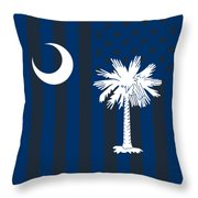 South Carolina State Flag Graphic Usa Styling Throw Pillow
