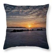 South Caroline Sunset Throw Pillow by Tom Singleton
