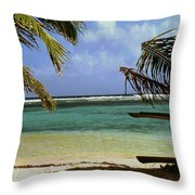 South Caye Belize Throw Pillow