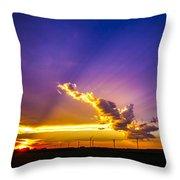 South Central Nebraska Sunset 008 Throw Pillow
