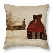 South Dakota Corn Crib Throw Pillow