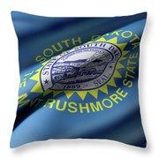South Dakota State Flag Throw Pillow