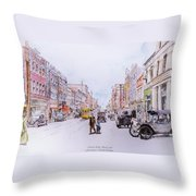 South Elm Street 1918 Throw Pillow