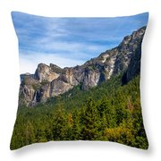 South End Of Half Dome Throw Pillow