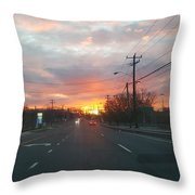 South End Sun Rise Throw Pillow