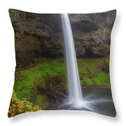 South Falls At Silver Falls State Park Throw Pillow