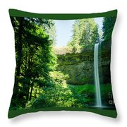 South Falls Landscape Throw Pillow