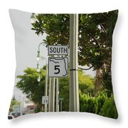 South  Florida 5 Throw Pillow